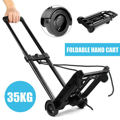Folding Adjustable Shopping Height Luggage Hand Trolley Cart Load 35KG Transport