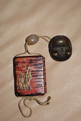 Antique Japanese Inro,Netsuke and Ojime,Chinese Sages in Bamboo Grove