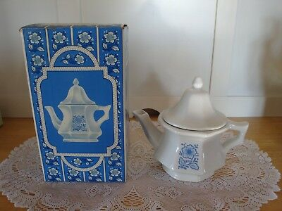 Vintage Avon China Teapot Perfumed Candle Holder-Also For Steeping Tea-