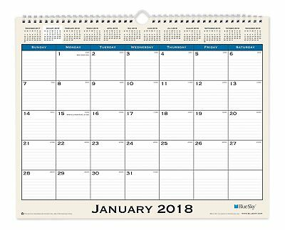 "Blue Sky 2018 Monthly Wall Calendar, Twin-Wire Binding, 15"" x 12"", Journey"