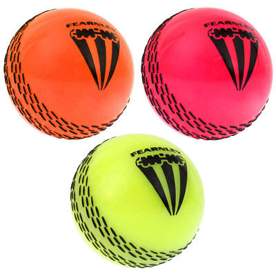 Summit 3 Pack Fearnley One Dayer Cricket Balls Orange/Pink/Lime Sport/Game