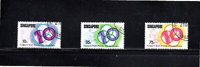 Singapore 1976 10th Anniversary Singapore Youth Festival SG 276/8 Used