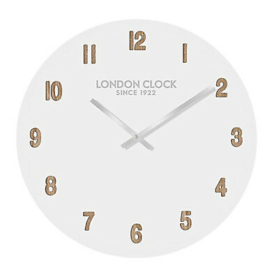 London Clock Company Hvit Silent Sweep White Face Wall Clock 35cm *FREE DELIVERY