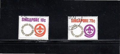 Singapore 1974 Ninth Asia-Pacific Scout Conference SG 233/4 Used