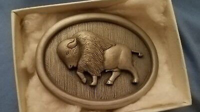 Buffalo Forge 1878-1978 100 anniversary pewter belt buckle