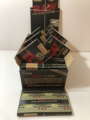 RAW Black Classic Natural Unrefined Rolling Papers Ultra Thin - 70mm Single Wide