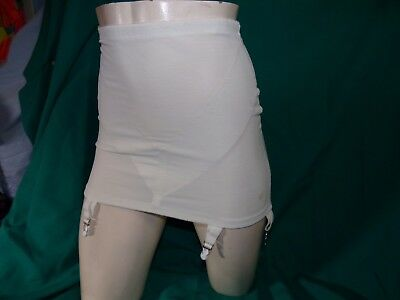 Vintage open leg girdle by Adonna size XL  6 metal garters