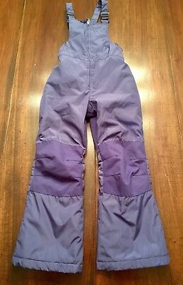 Land's End Kids Bib Snow Ski Pants Girl's Size 8 Purple