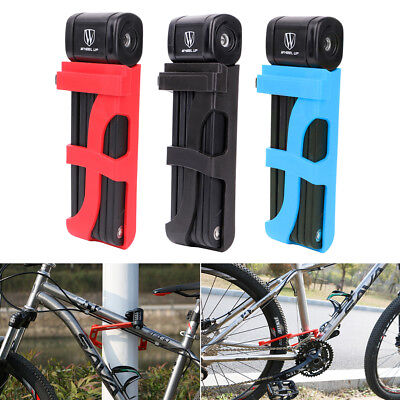 MTB Bike Motorcycle Scooter Bicycle Foldable Security Anti-theft Lock w/ 2 Keys