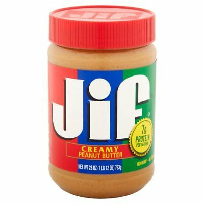 New Jif Creamy Peanut Butter 28 Oz. Free Shipping