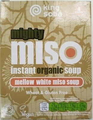King Soba Instant White Miso Soup (Organic) ~ 100g