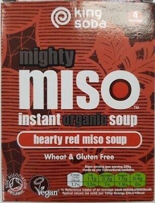 NEW King Soba Instant Red Miso Soup (Organic) ~ 100g