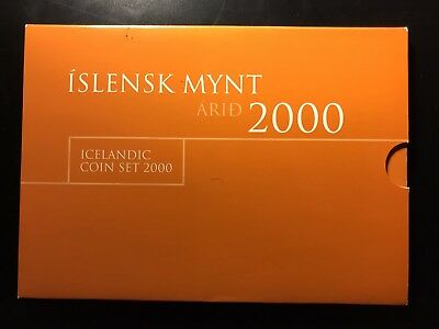 Iceland 2000 official UNC mint set