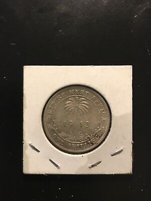 British West Africa silver shilling 1913