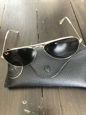 Original Authentic Raybans Kids Gold Aviator. As New.  Paid $120
