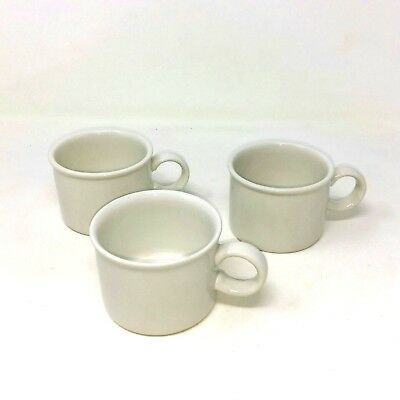 Vtg Midwinter Stonehenge White Flat Cup Lot of 3 Made in England Ceramic Mug L4A