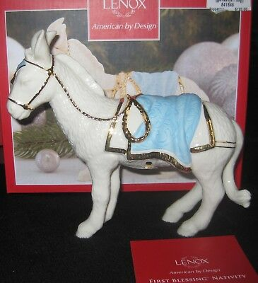 Lenox The First Blessing Addition to the Nativity Donkey with Blue Blanket $120