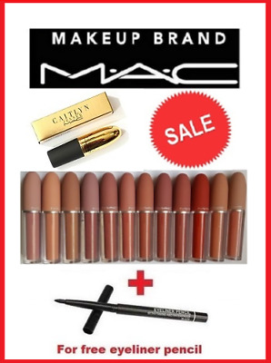 M.A.C Lustre Liquid Matte Lipstick in box + FOR FREE EYELINER PENCIL