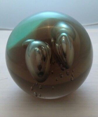 Glass Paperweight Unbranded Large Bubbles