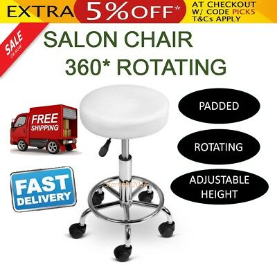 Salon Chair Stool Beauty Hairdressing Barber Swivel PU Equipment Hydraulic Lift