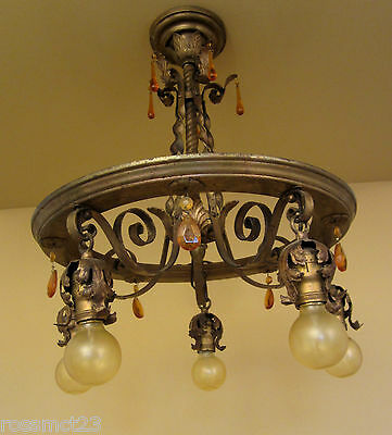 Vintage Lighting striking 1920s pendant  Just 20 High
