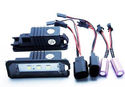 2x LED LICENSE NUMBER PLATE LIGHT SEAT EXEO / ST CANBUS