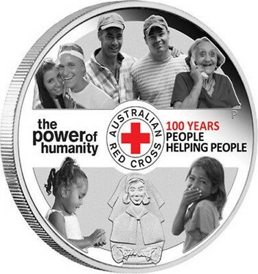 100th Anniversary of Australian Red Cross 1oz Silver Proof Coin - Perth Mint