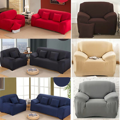 1 2 3 4 Seater Sofa Cover Slipcover Stretch Elastic Couch Chair Protector Home H
