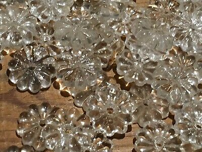 100 Gorgeous Glass Chandelier Flowers Parts Spares French Marie Therese