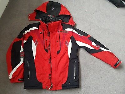 Men's SPYDER SKI Jacket size Medium UK 40 Red/Black Very Good Condition