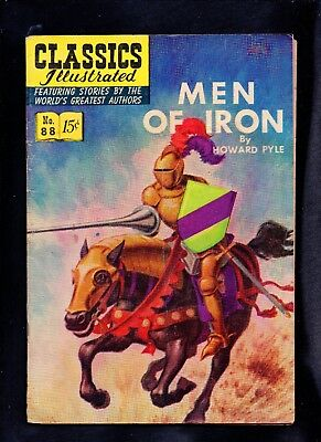 Classics Illustrated #88 Vg (O) Hrn89  (Men Of Iron) Free Shipping On $15+ Order