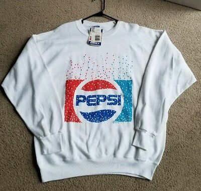 Classic Vintage Pepsi Cola Sweatshirt  New With Tags XL Pepsi Apparel 80's RARE