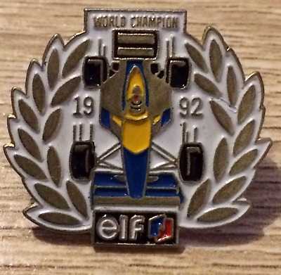 PINS PIN'S FORMULE 1 F1 TEAM ELF WORLD CHAMPION 1992 RALLYE COMPETITION sport