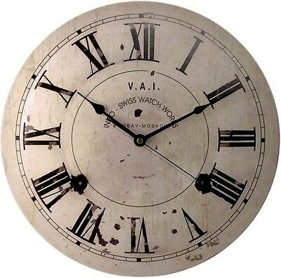 Wall Clock Duve 141310 Wood Round Inches 13.77 Quartz Old England Antique