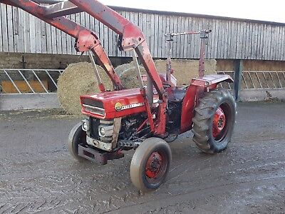 massey ferguson 135 tractor and loader one owner from new classic