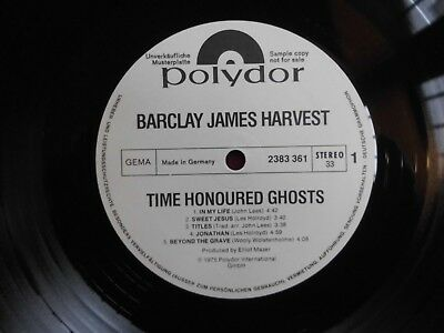 Barclay James Harvest Time Honoured 1975 Promo Muster Polydor 2383 361
