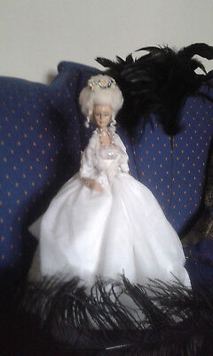 ART DOLL 12th scale Marie Antoinette style handmade half doll on stand