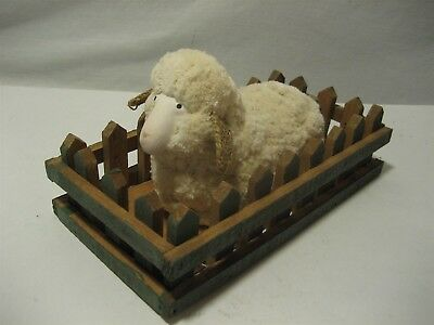 Soft Wooly Sheep in a Wooden Pen