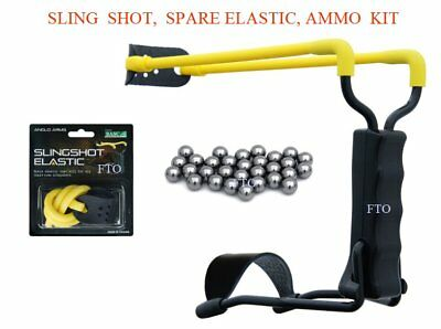 Anglo Arms High Velocity Std Wrist Slingshot Catapult Ammo Spare Elastic Hunting