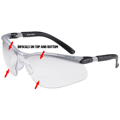 3M BX Dual Reader Safety Glasses with Clear Anti-Fog Lens