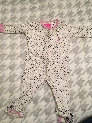 Joules Baby Girl 3-6 Months dog babygrow