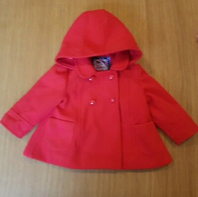 Beautiful Red Girls Coat - EXCELLENT CONDITION Age 6-9 Months Jacket Clothes