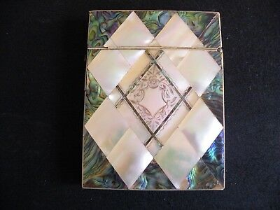 Mother Of Pearl And Abalone Card Case.