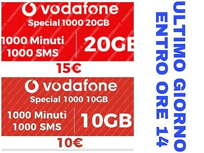 Vodafone Special 10Gb/20Gb Coupon Gratis
