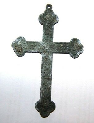 Medieval Crusaders Bronze Cross with decoration 1200 AD