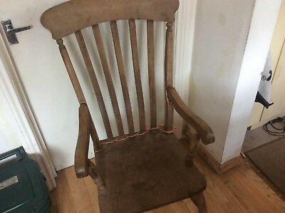 Beautiful old antique pine chair, arm broken but otherwise perfect condition