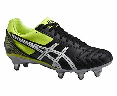 Asics Lethal Tackle Rugby Boots Cleats Black/White/Flash Yellow - UK 7.5