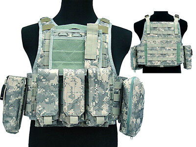 Tactical 027 Molle Combat Vest Magazine Pouch Airsoft Paintball Military ACU