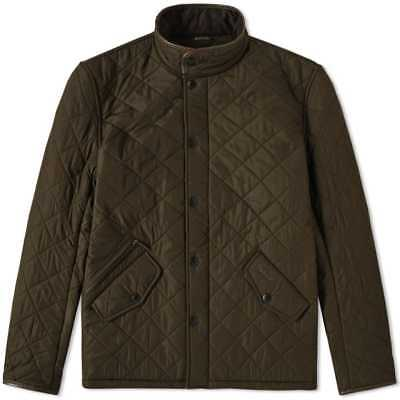 NWT Barbour Powell Quilted Jacket: Olive Size Large