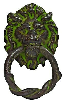 Antique Lion Head Door Pull Knocker Heavy Solid Brass Hardware Heavy BN